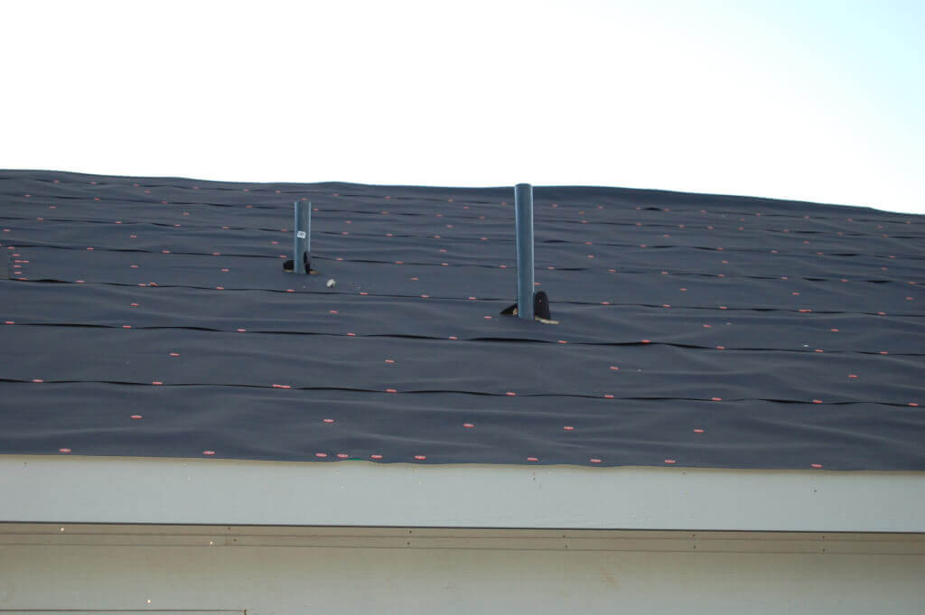 Plumbing vents exposed during roof install