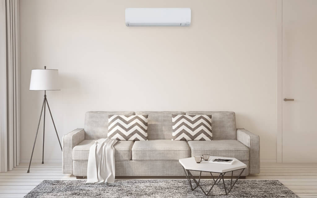 Ductless mini split in home